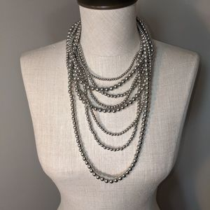 Jewelry - Multistrand beaded necklace glossy gray